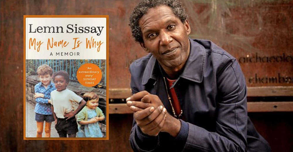 My Name is Why: Lemn Sissay author photo and book cover